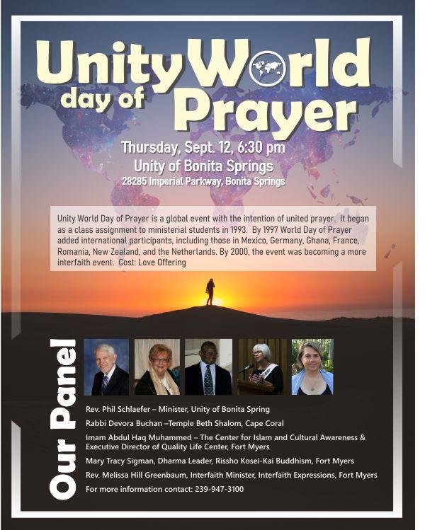 Unity Prayer service flyer